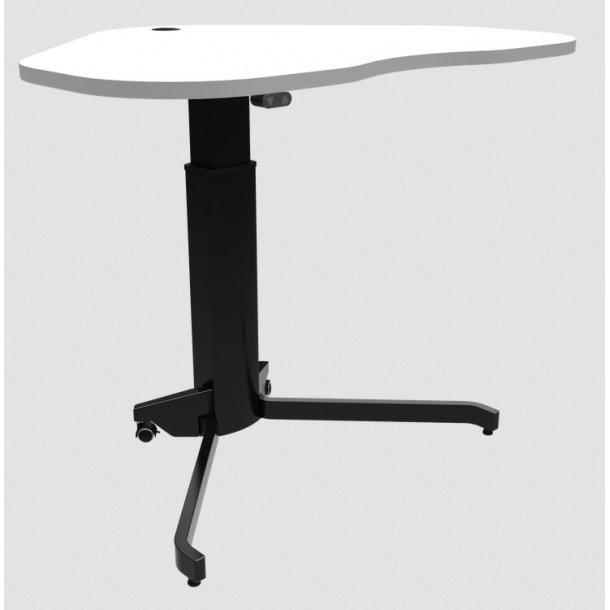 Enkeltsøjle hæve-sænkebord 117x90 i Hvid melamin